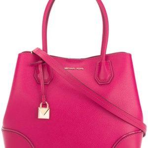 Michael Kors Mercer Corner Ultra Pink Medium Bag